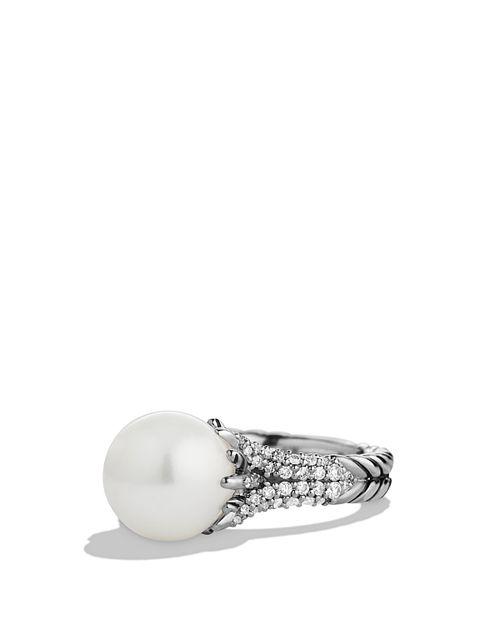 David Yurman - Starburst Ring with Pearl & Diamonds