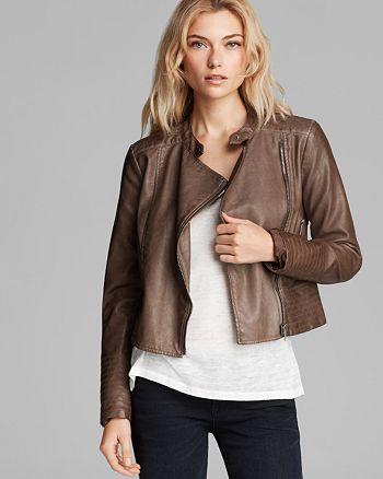 BB DAKOTA - Vendome Faux Leather Moto Jacket