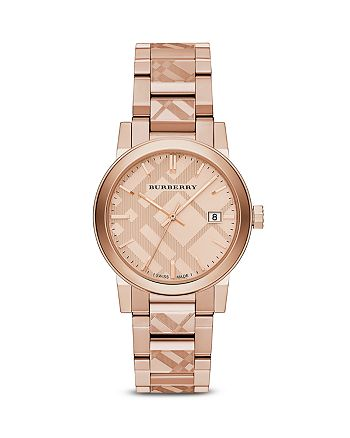 Burberry - Check Etched Bracelet Watch, 38mm
