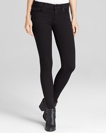 True Religion - Halle Mid Rise Super Skinny Jeans in Rebel Voices