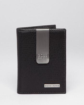 e3106888085 BOSS Hugo Boss Hugo Boss Wisko Leather Money Clip Card Holder ...