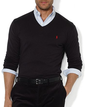 fbd32cac8202e Polo Ralph Lauren - Pima Cotton V-Neck Sweater