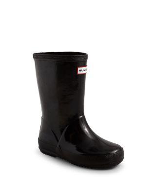 Unisex First Gloss Rain Boots   Walker, Toddler, Little Kid by Hunter