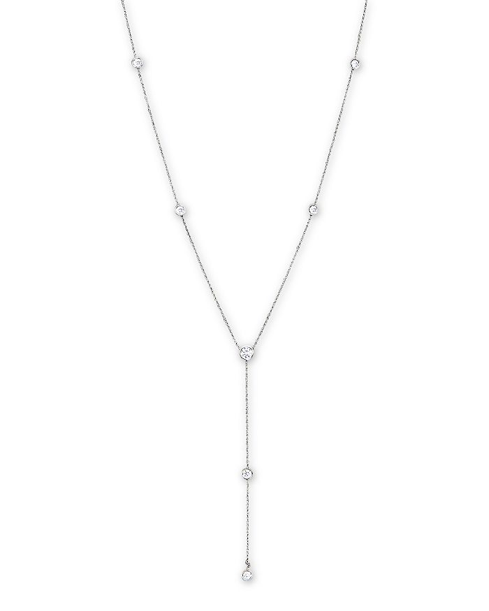 """Bloomingdale's - Diamond Station Lariat Necklace in 14K White Gold, 16""""- 100% Exclusive"""