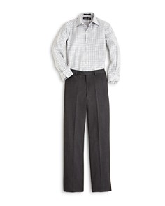 Michael Kors Boys' Open Check Button Down Shirt & Wool Trousers - Big Kid - Bloomingdale's_0