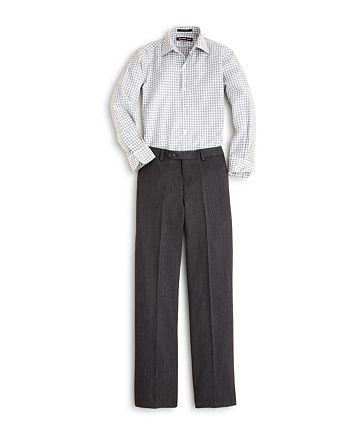 Michael Kors - Boys' Open Check Button Down Shirt & Wool Trousers - Big Kid