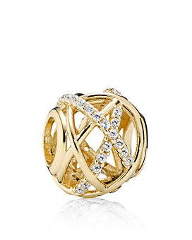 Pandora - Moments Collection 14K Gold & Cubic Zirconia Galaxy Charm