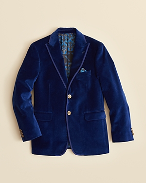 Tallia Boys' Solid Velvet Jacket - Sizes 8-20