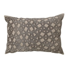 "Mitchell Gold Bob Williams - Laser Cut Hair on Hide Pillow, 14"" x 20"""