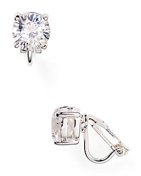 Ralph Lauren - Cubic Zirconia Clip On Earrings, 10mm