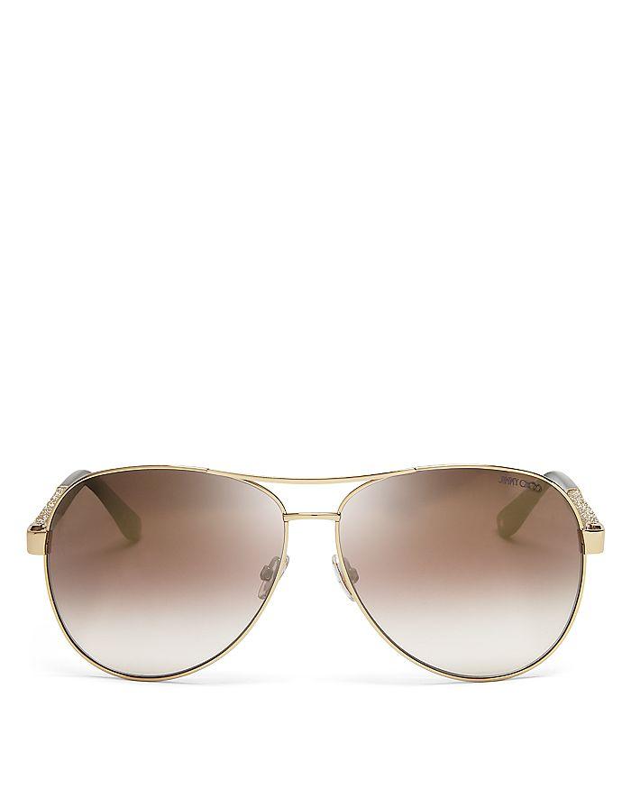 7ea999fc84f3 Jimmy Choo Women's Lexie Mirrored Aviator Sunglasses, 61mm ...