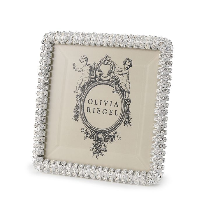 """Olivia Riegel - """"Chelsea"""" Clear Diamond Pavé Frame, 4"""" x 4"""""""