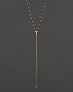 Zoe Chicco 14K Yellow Gold Diamond Trio Short Lariat Necklace, 16