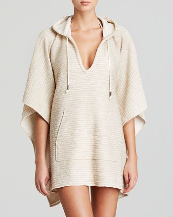 1b5a43375bdca Echo French Terry Hooded Poncho Swim Cover-Up | Bloomingdale's