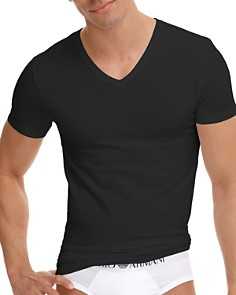Armani - Stretch Cotton V-Neck T-Shirt