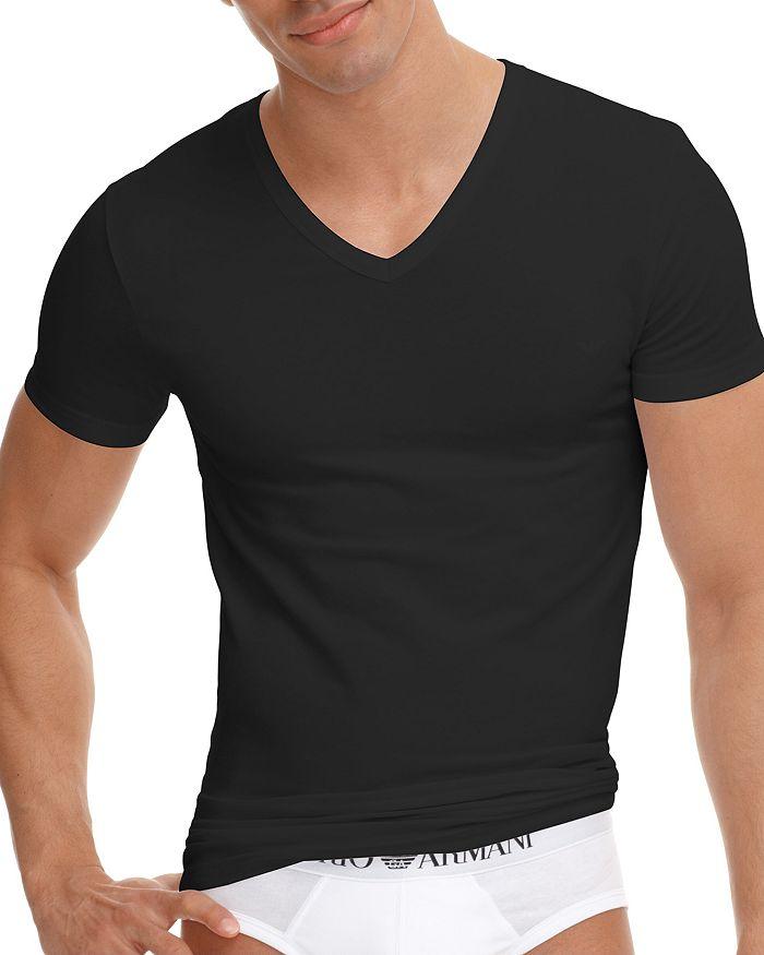 261e99fe Armani Stretch Cotton V-Neck T-Shirt | Bloomingdale's
