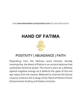 Alex and Ani - Precious Metals Symbolic Hand of Fatima Pull Chain Bracelet