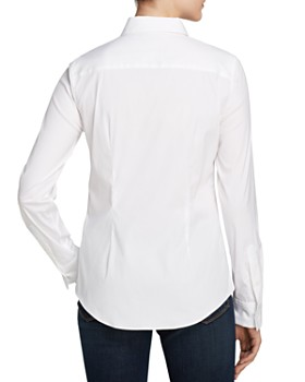 Theory - Tenia Luxe Stretch Cotton Top