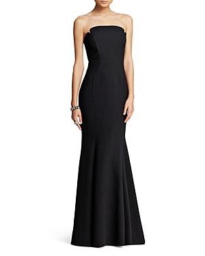 Jill Jill Stuart Deco Neckline Strapless Gown