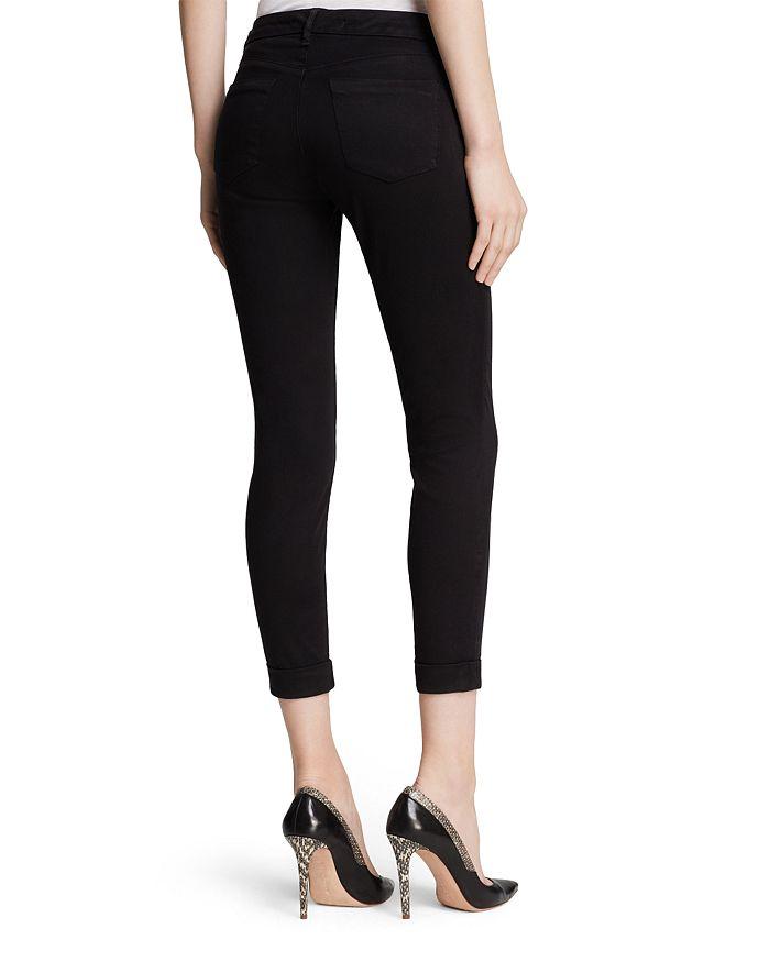 ed17ff12cd8 J Brand Jeans - Luxe Sateen Anja Cuffed Crop in Black