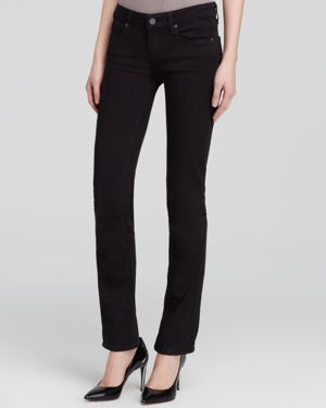 Paige Denim Jeans - Transcend Skyline Straight in Black Shadow 1192362