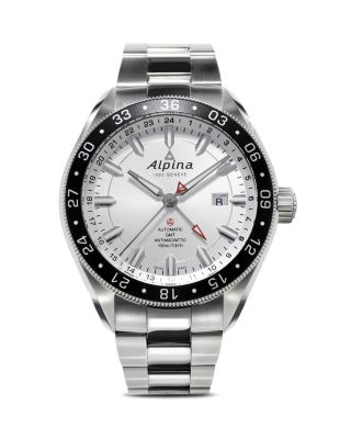 ALPINA Alpiner 4 Automatic Gmt Watch, 44Mm in Silver