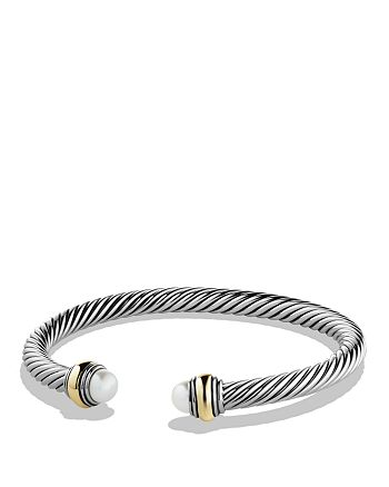 David Yurman - Cable Classics Bracelet with Pearl and Gold