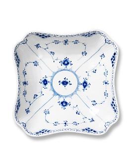 Royal Copenhagen - Blue Fluted Half Lace Square Serving Bowl