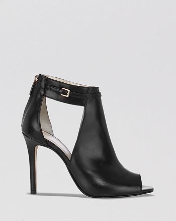 dc8660425714 KAREN MILLEN Open Toe Ankle Strap Booties - Cut Out High Heel ...