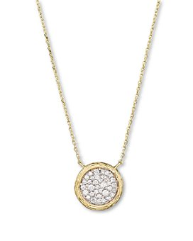 Bloomingdale's - Pavé Diamond Circle Pendant Necklace in 14K Yellow Gold, 0.35 ct. t.w. - 100% Exclusive