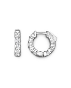Diamond Hoop Earrings in 14K White Gold, 1.0 ct. t.w. - 100% Exclusive - Bloomingdale's_0