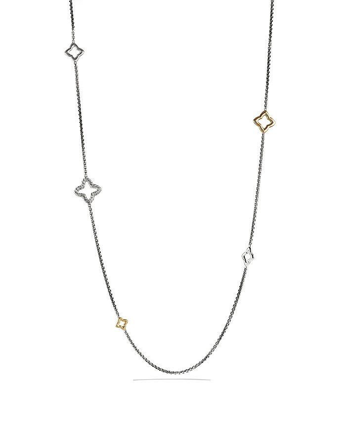 David Yurman - Quatrefoil Chain Necklace with Gold