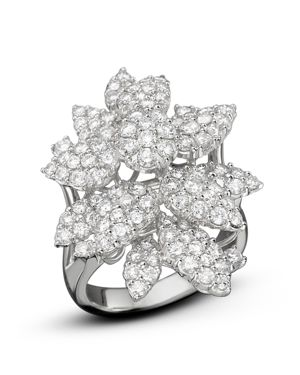 Diamond Cluster Flower Statement Ring in 14K White Gold, 3.10 ct. t.w. - 100% Exclusive