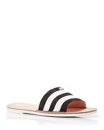 3605b34fe32f kate spade new york Flat Slide Sandals - Imperiale Striped ...
