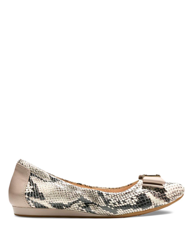 Cole Haan Tali Flex Snake Embossed Ballet Flats