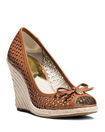 8ada79f693f MICHAEL Michael Kors Open Toe Platform Wedge Espadrille Sandals ...