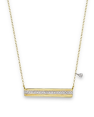 Meira T 14K Yellow Gold Horizontal Bar Pendant Necklace with Diamonds, 16-Jewelry & Accessories