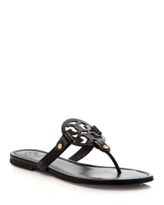$Tory Burch Women's Miller Leather Thong Sandals - Bloomingdale's