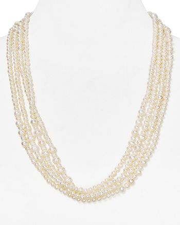 """Carolee - Cultured Freshwater Pearl Necklace, 108"""""""