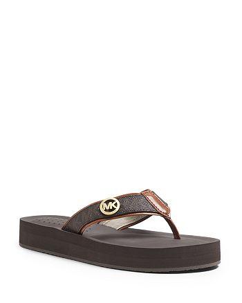 88c67496a MICHAEL Michael Kors Platform Flip-Flop Sandals - Gage Logo ...