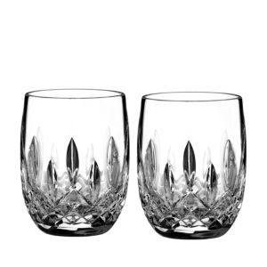 Waterford Lismore Connoisseur Whiskey Rounded Tumbler Glass, Set of 2