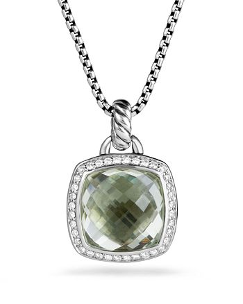 David Yurman - Albion Pendant with Prasiolite and Diamonds