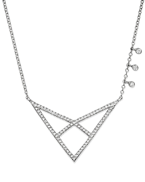 Click here for Meira T 14K White Gold Open Triangle Necklace with... prices