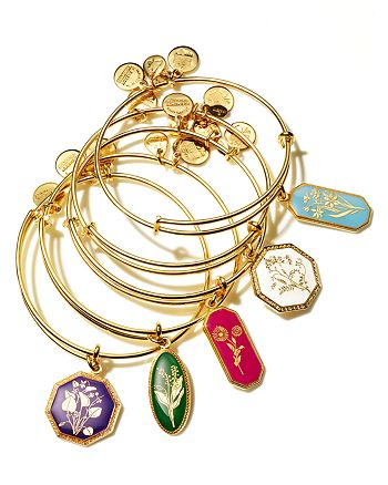 Alex And Ani Birth Flowers Collection