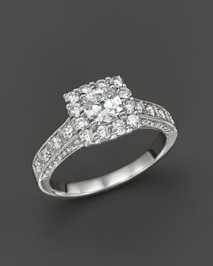 Diamond Engagement Ring in 14K White Gold, 1.50 ct. t.w. - 100% Exclusive