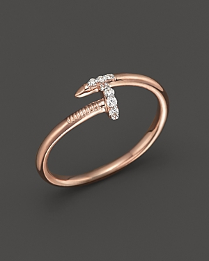 Kc Designs Diamond Nail Ring in 14K Rose Gold, .06 ct. t.w.