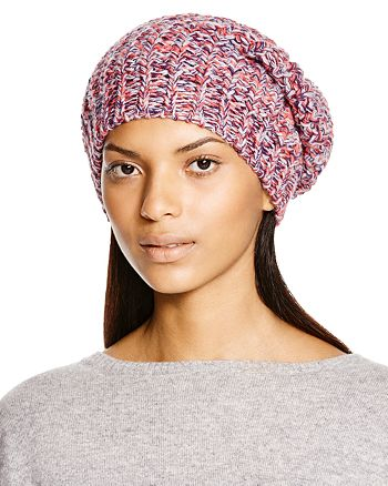 AQUA - Chunky Knit Slouchy Hat - 100% Exclusive