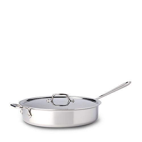 All-Clad - Stainless Steel 5-Quart Sauté Pan with Lid