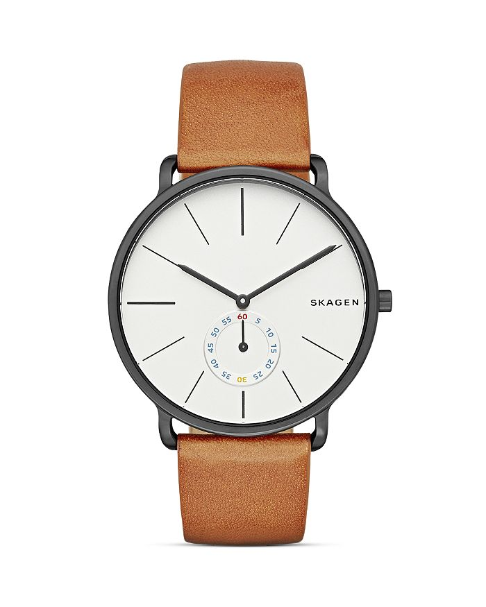 Skagen - Hagen Leather Watch, 40mm