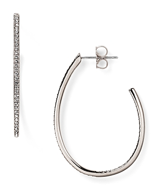 Nadri Pave Teardrop Hoop Earrings